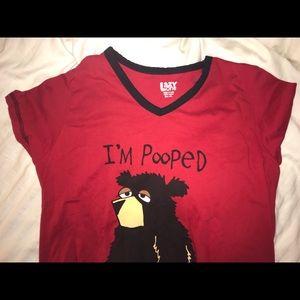 """I'm pooped"" sleeping dress"